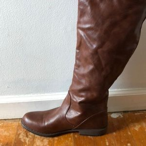 Knee-Length faux leather boots for JustFab